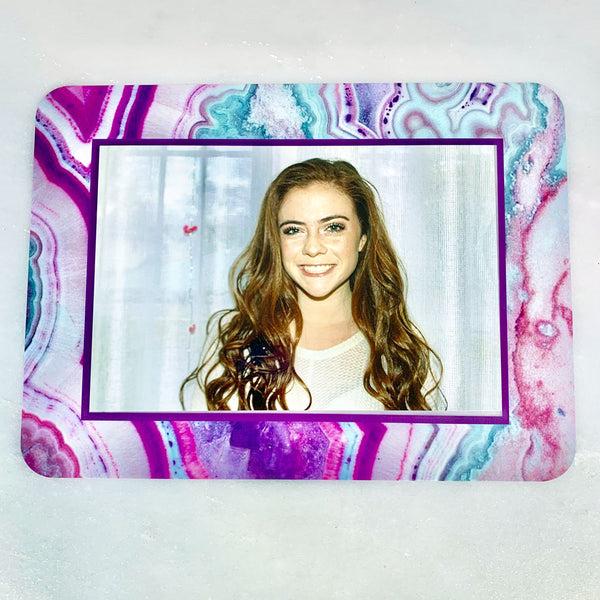 Agate Purple Self-Stick Picture Frames Collection