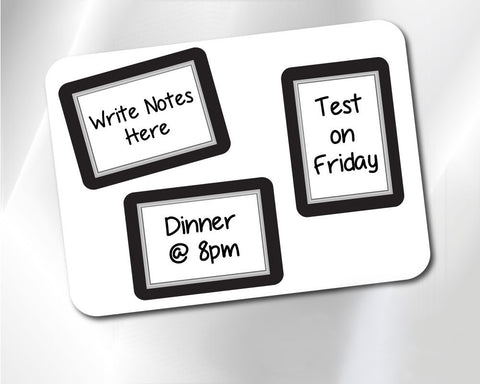 2 x 3 Beveled Fodeez® Notes - Pack of 3 - Fodeez® Adhesive Display Frames / Dry Erase Boards  - 1