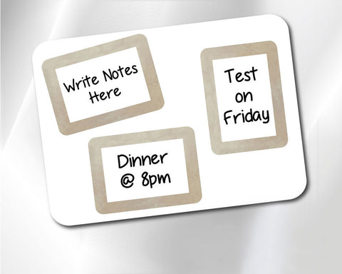 2 x 3 Fodeez® Notes Gilded - Pack of 3 - Fodeez® Adhesive Display Frames / Dry Erase Boards  - 1