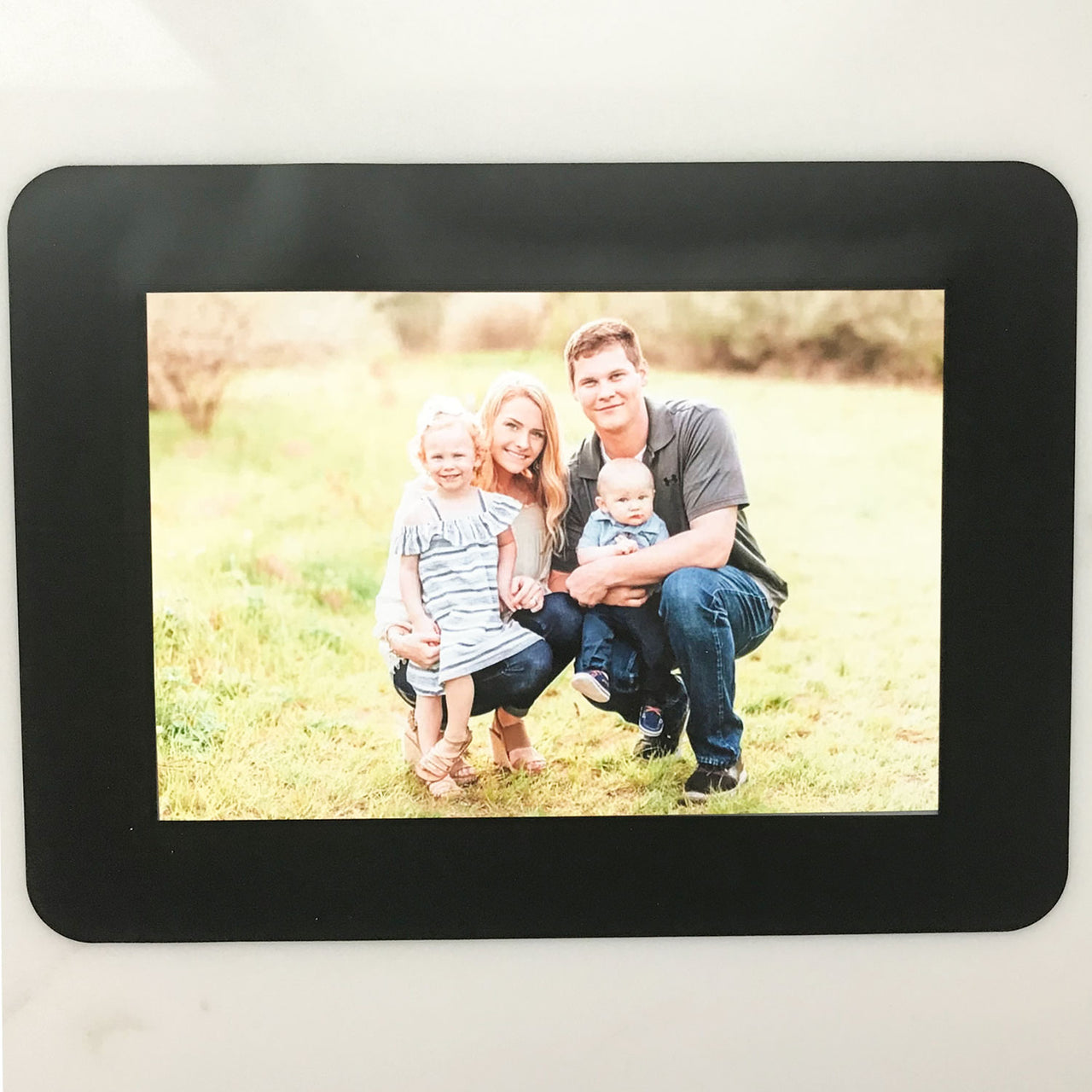 Black Solid Self-Stick Picture Frames Collection