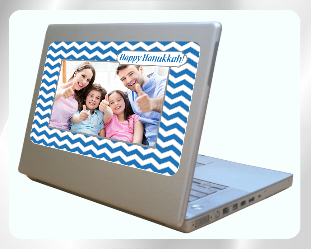 Fodeez Peel & Stick Hanukkah Card - Chevron - Fodeez® Adhesive Display Frames / Dry Erase Boards  - 4