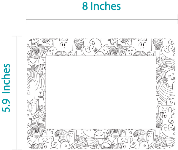 4 x 6 Colorable Adhesive Frames / Dry Erase Boards with Markers - Fodeez® Adhesive Display Frames / Dry Erase Boards  - 3