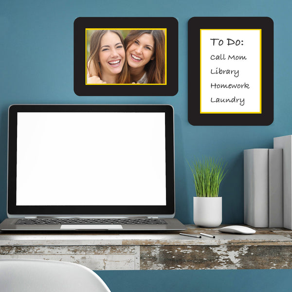 Multi-Pack of Self-Stick Picture Frames in College Colors