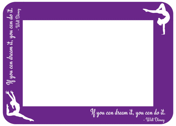 "4x6 Fodeez Frames ""You know you're a gymnast when . . . "" - Pack of 5 - Fodeez® Adhesive Display Frames / Dry Erase Boards  - 10"
