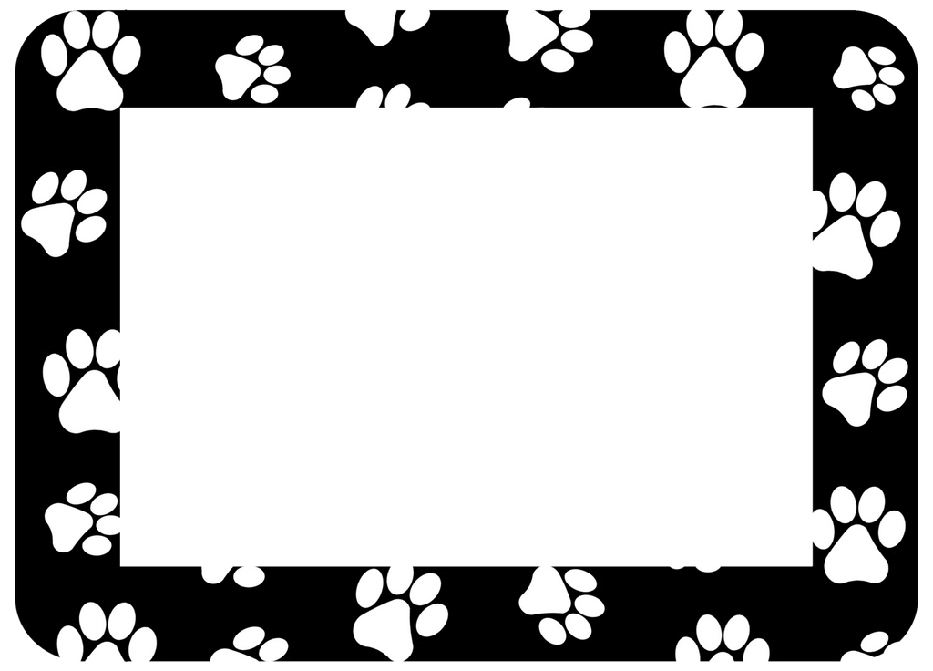 4 x 6 Paw Print Fodeez® Frames - Pack of 5 - Fodeez® Adhesive Display Frames / Dry Erase Boards  - 8