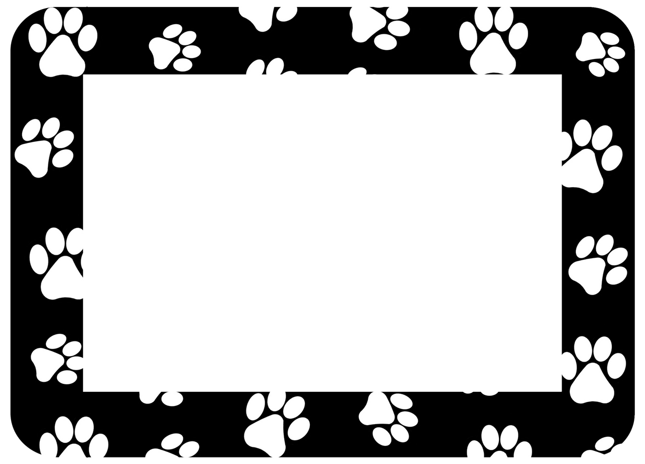 Pet Paw Print Self-Stick Picture Frames Collection