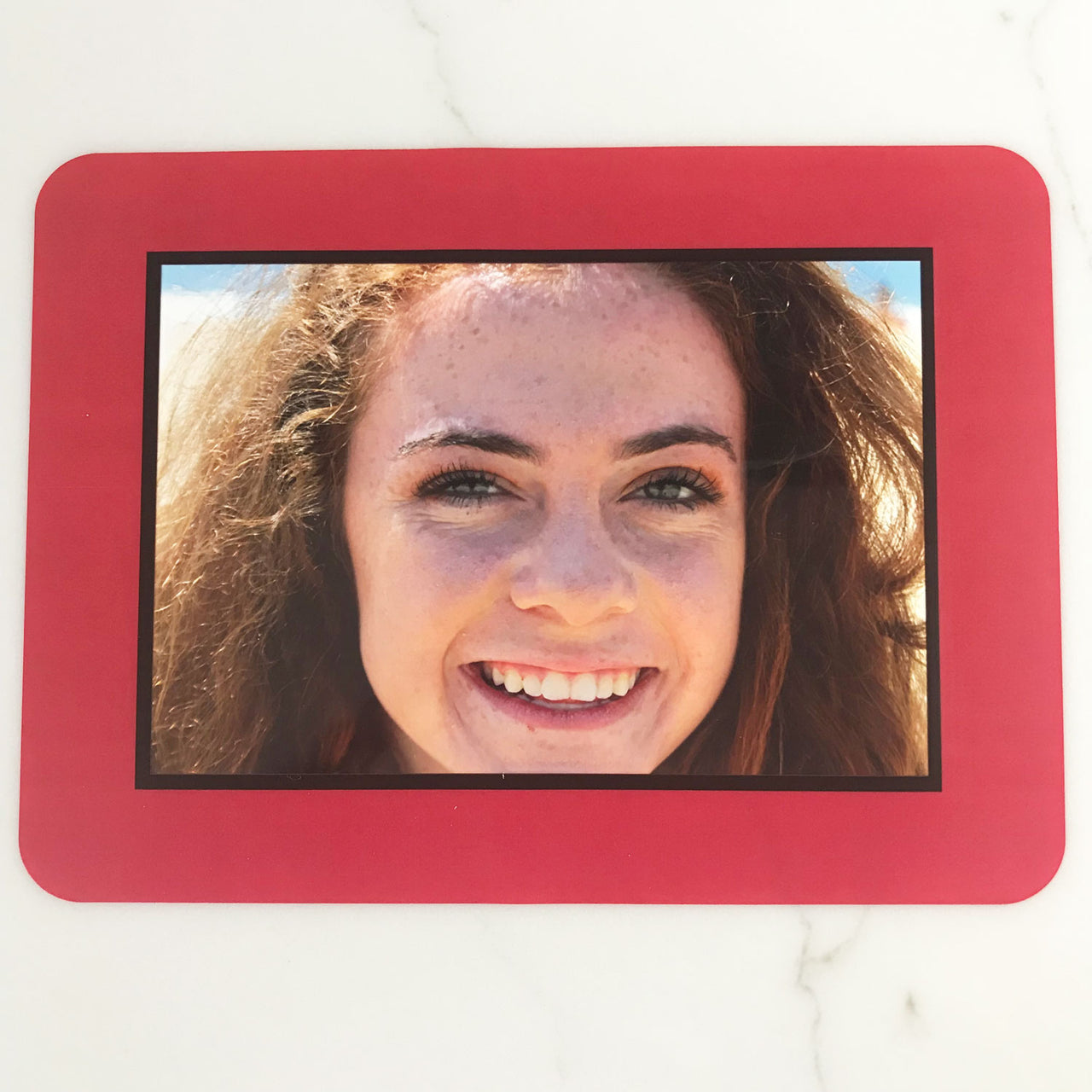 College Color Red/Black Dry Erase Reusable Frames