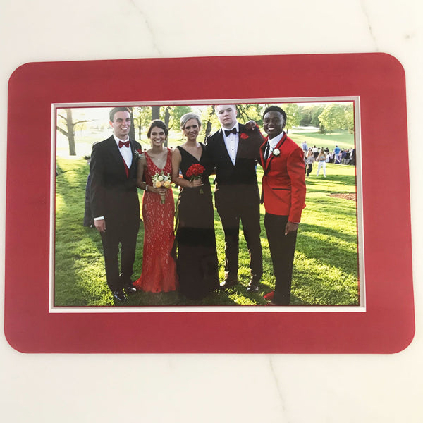 College Color Red/White Dry Erase Reusable Frames
