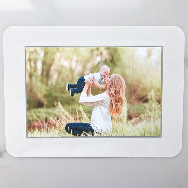 Solid White Self-Stick Picture Frames Collection