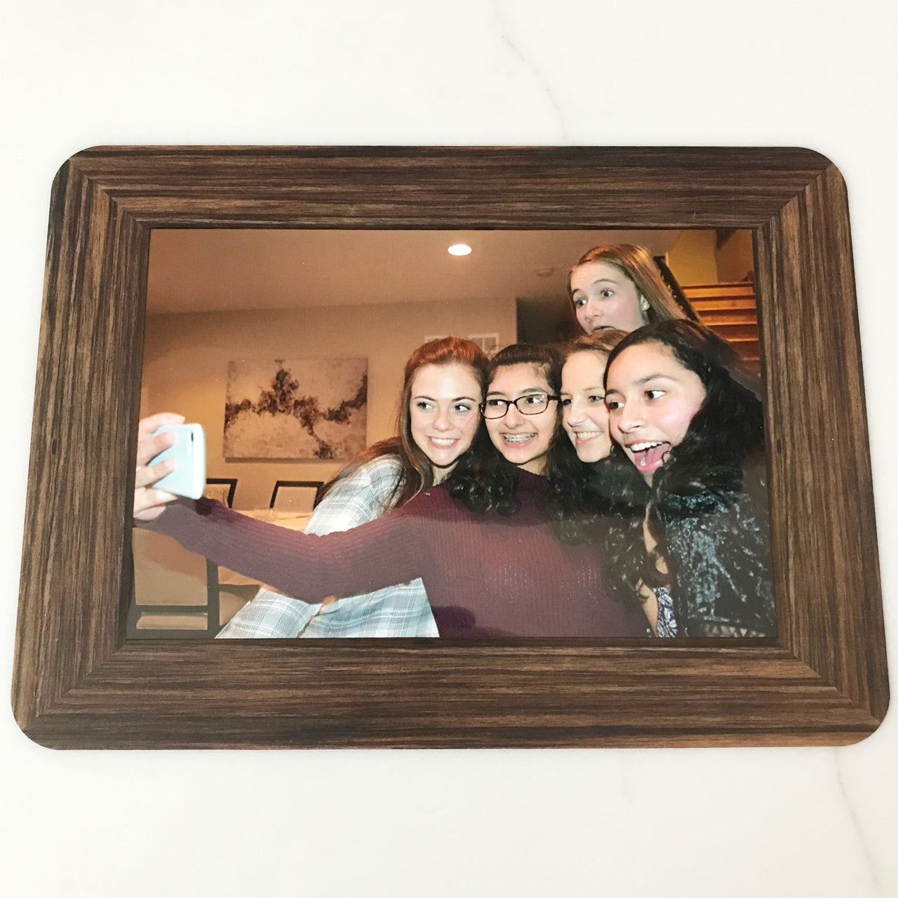 Wood Grain Self-Stick Picture Frames Collection