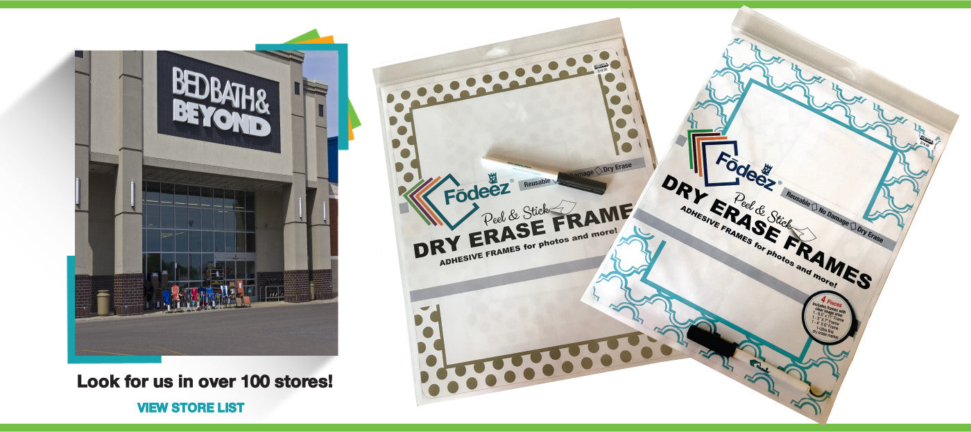reusable adhesive peel and stick reusable adhesive display frames for non-magnetic stainless steel refrigerators