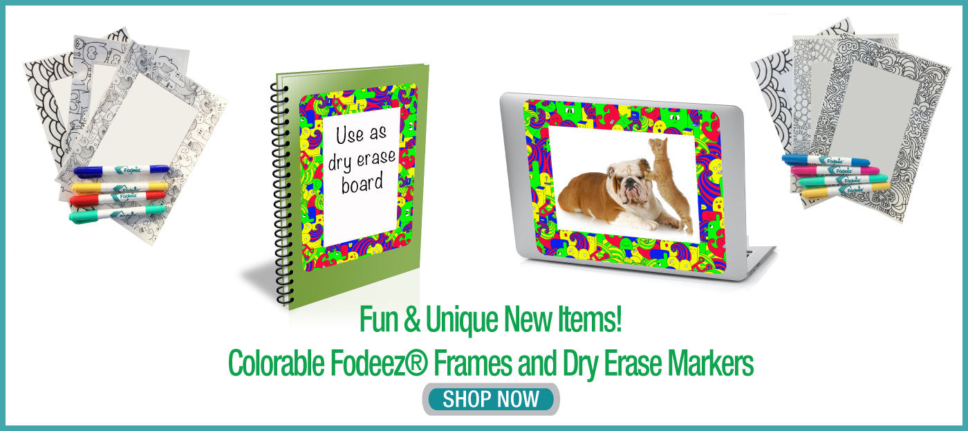 colorable reusable adhesive peel and stick display frames for non magnetic stainless steel