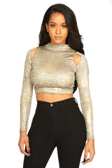 HER Gold Rush Crop Top