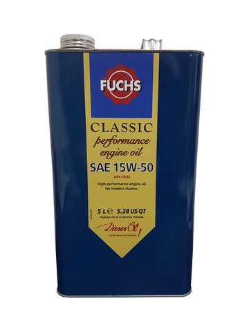 Fuchs Classic Performance 15w50 Engine Oil | LRT Lubricants