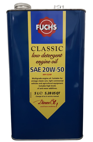 Classic Low Detergent SAE 20w-50 Engine Oil | LRT Lubricants