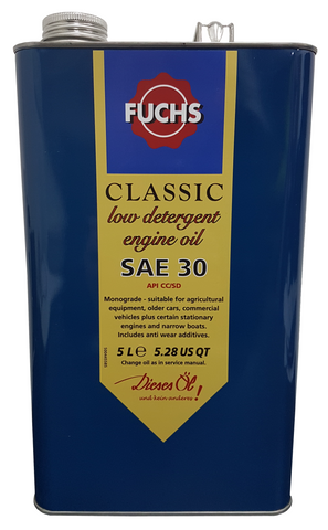 Fuchs Classic Low Detergent SAE 30 Engine Oil | LRT Lubricants