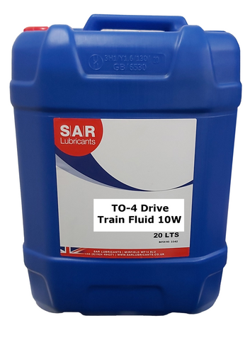 SAR TO-4 10W Drive Train Fluid - 20 Litres