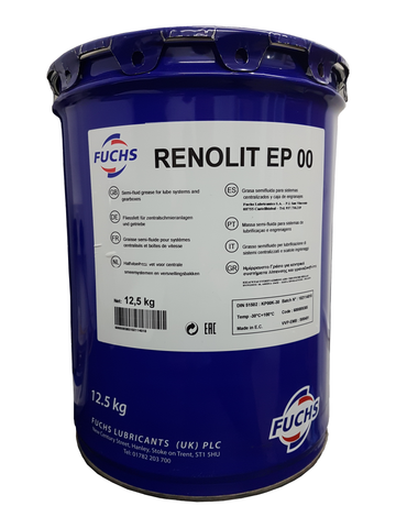 Fuchs Renolit EP00 Semi Fluid Grease -  12.5 kg Keg LRT Lubricants
