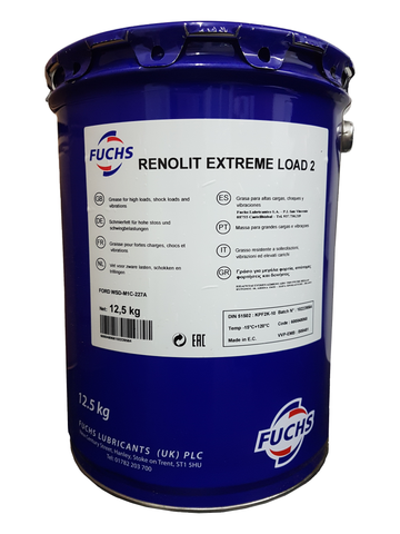 Fuchs Renolit Extreme Load 2 Extreme Pressure Grease -  12.5 kg Keg LRT Lubricants