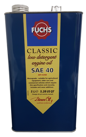 Fuchs Classic SAE 40 Low Detergent Engine Oil - 5 to 20 Litres