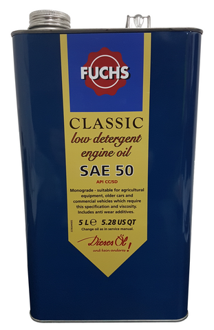 Fuchs Classic SAE 50 Low Detergent Engine Oil - 5 to 20 Litres