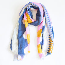 Load image into Gallery viewer, colorful scarf, colorful scarves, colorful head scarf, long scarf, modal scarf