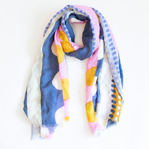 colorful scarf, colorful scarves, colorful head scarf, long scarf, modal scarf