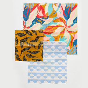 Beeswax Food Wrap In Jungle Print- 3 pack