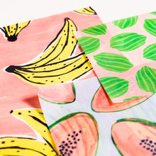 Load image into Gallery viewer, Beeswax Food Wrap In Fruit Print- 3 pack
