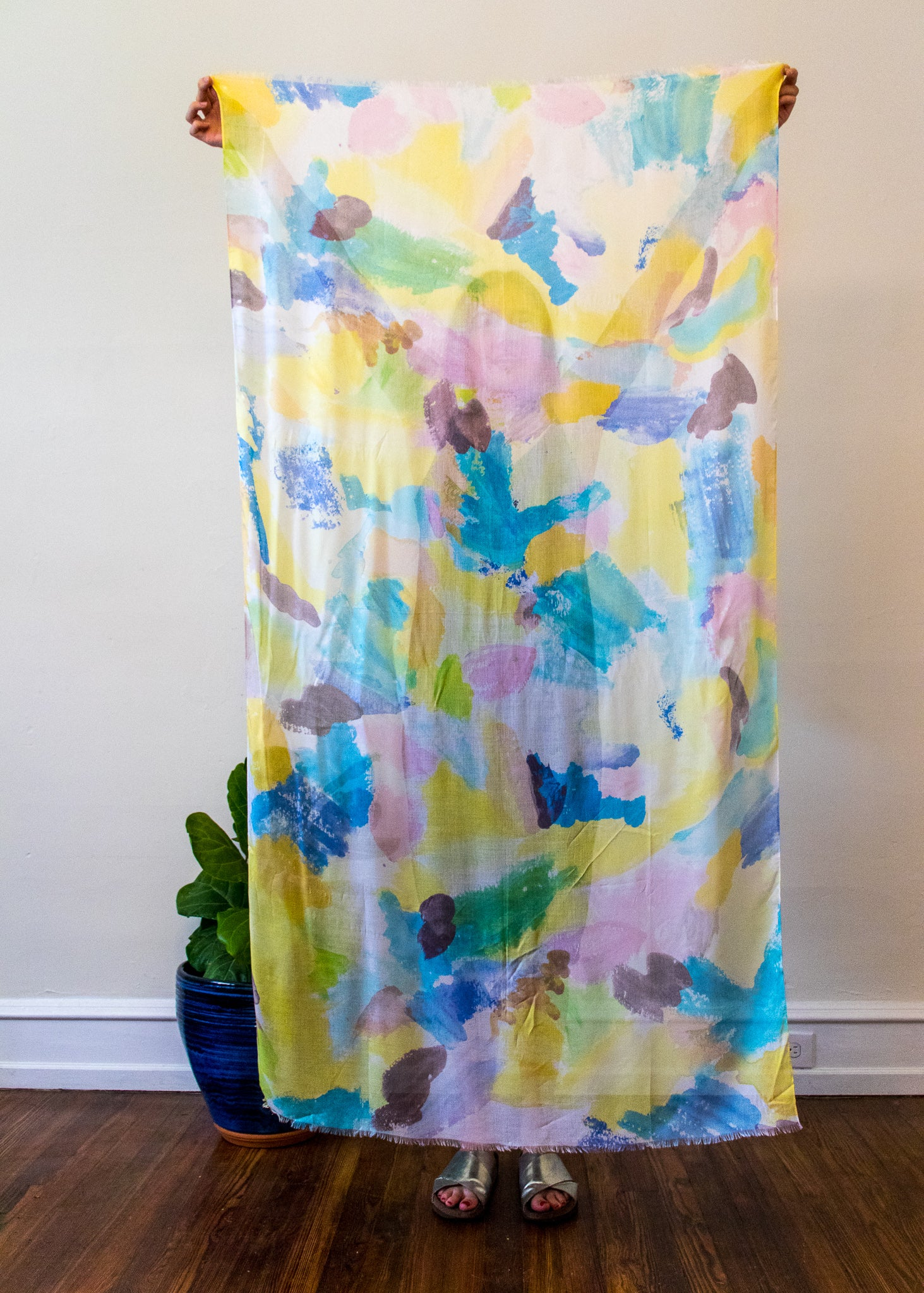 "Summer Scarf Rainbow Love 36"" x 70"" Modal"