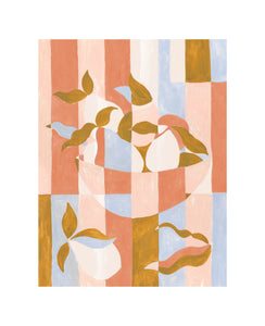 Abstract Fruit Bowl Printed Wall Art
