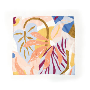 100% silk colorful modern floral scarf by Supra Endura