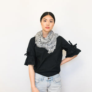 black and white dotted 100% modal scarf 35