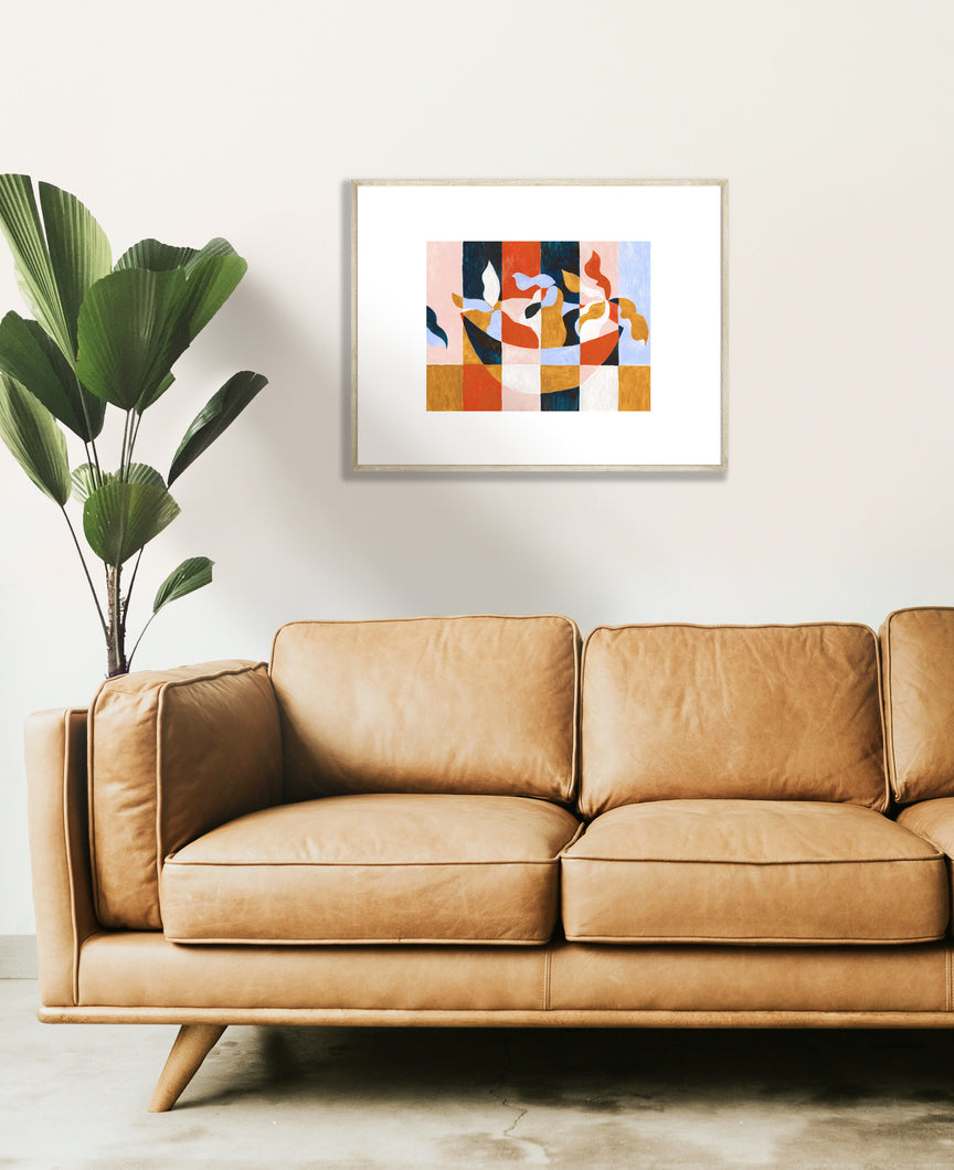 Abstract Fruit Bowl Printed Wall Art landscape