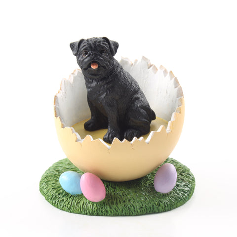 Details about  /Black Pug Easter Bunny 7in Decor