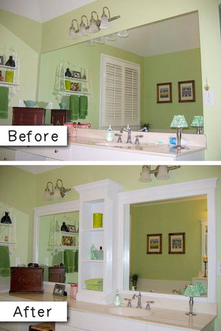 Revamp bathroom mirror