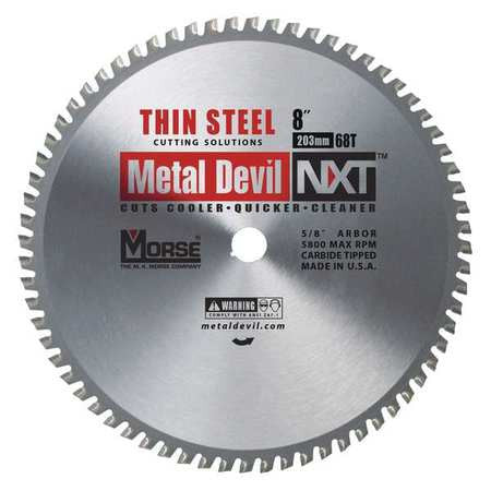 MK Morse CSM868NTSC NXT 8 inch Steel Cutting Circular Blade w/ 68 Teeth