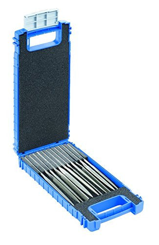 "Pferd 04025 5 Piece Needle File Set, Diamond Grit, Medium, 5-1/2"" Length"