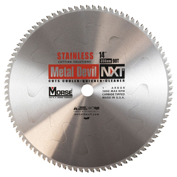 MK Morse CSM1490NSSC 14 inch Stainless Steel Cutting Circular Blade w/ 90 Teeth