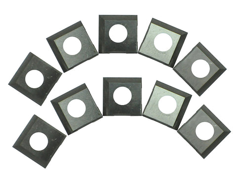 RIKON Power Tools 25-499C Carbide 2-Edge Inserts for 25-130H Planer, 10-Pack