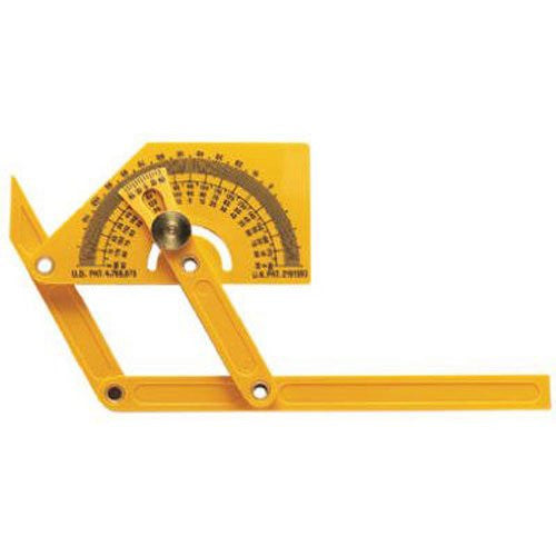 General Tools 29 Plastic Protractor and Angle Finder with Articulating Arms