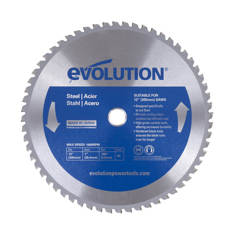 "Evolution 12"" Mild Steel Blade 12BLADEST"