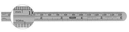 "General Tools 305ME Flexible Stainless Steel Precision Rule 6"" / 150 mm"
