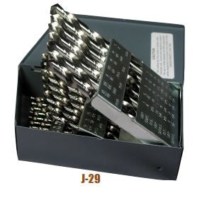 Norseman 43540 Bright Finish 118 Degree HSS Drill Bit Set (60 Piece)
