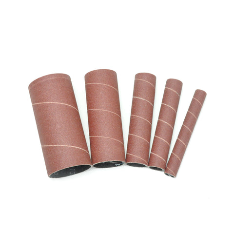 Rikon 50-45060 Spindle Sanding Sleeves 60 Grit, Pack of 5 ( 1 each, 1/2″, 3/4, 1″, 1 1/2″, and 2″)