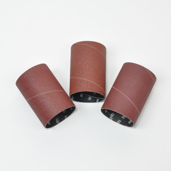 Rikon 50-45303 Spindle Sanding Sleeves 3inch, Pack of 3 (1ea 60,100 & 150 grit)