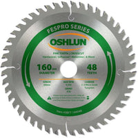 Oshlun SBFT-160048 Fespro Series Saw Blade 160mm 48teeth