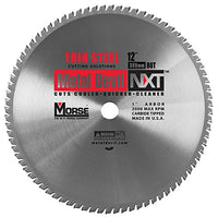 MK Morse CSM1280NTSC NXT 12 inch Thin Steel Cutting Circular Blade w/ 80 Teeth