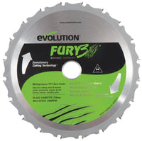 "Evolution 8-1/4"" Multipurpose Blade FURY3BLADE"