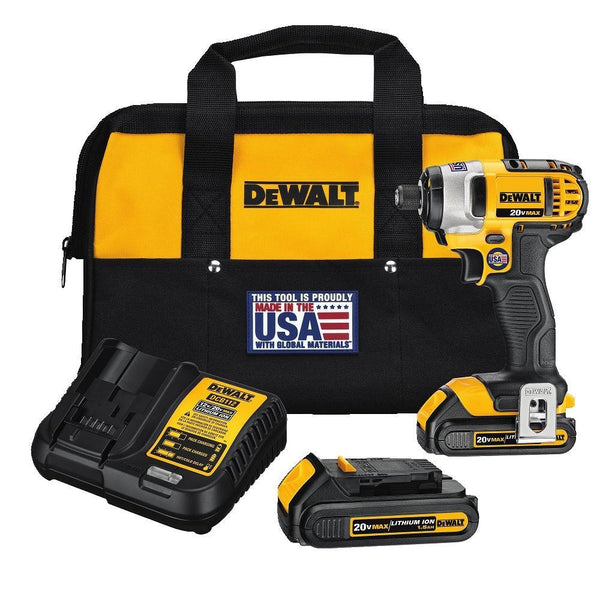DEWALT DCF885C2 20-Volt MAX Lithium Ion 1/4-Inch 1.5 Ah Brushless Compact Impact Driver Kit